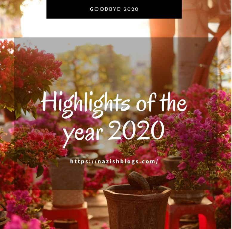 Highlights of the year 2020…