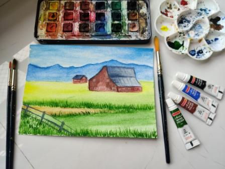 How to Become a Water Colour Artist in Just INR 1000/- only.
